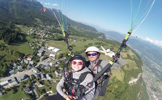 1. Biplace parapente : Vol contact