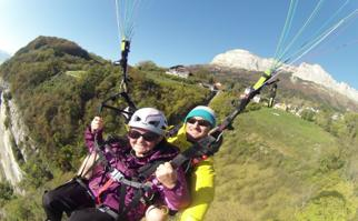 2. Biplace parapente : Vol sensation